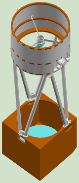 more 3D view of telescope