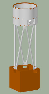 3D view of telescope