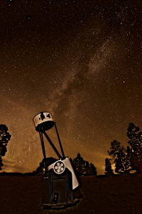 Telescope and milkyway